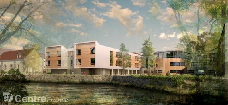 Début des travaux de reconstruction de l'aile centrale et mise en sécurité de l'EHPAD Les Jardins des Laignes à DONZY